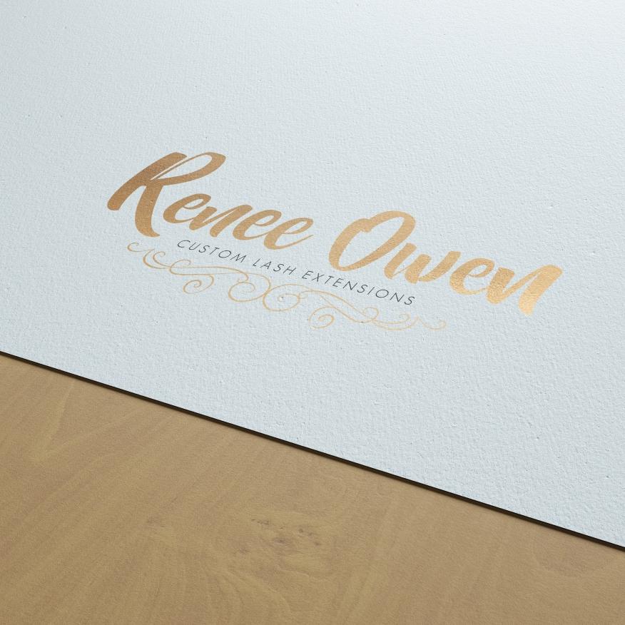 Renee Owen - Custom Lash Extensions   Logo Design